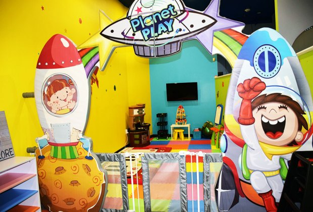 Entrance to the toddler area at Planet Play