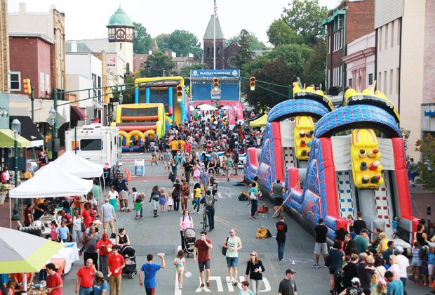 PlayDay South Orange turns the street into a  bouncy, fun-filled day! Photo courtesy of the Village Green