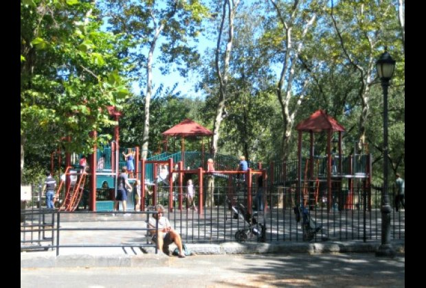 One of three play structures in the popular Catbird Playground