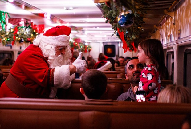 Visitors are whisked away on THE POLAR EXPRESS for a magical one-hour trip to the North Pole.