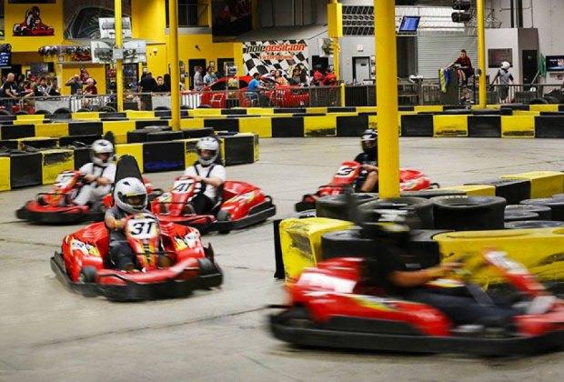 g-kart racing at pole position