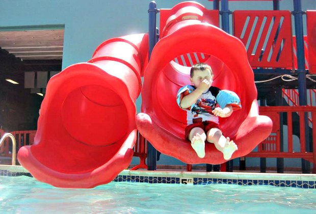 Pick your way into the drink at the Pool Plaza. Photo courtesy of One Stop Fun