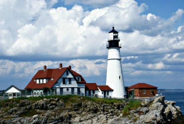 The historic Portland Head Light lighthouse.