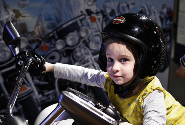 "Hit the ""open road"" at the Long Island Children's Museum's Harley Davidson exhibit. Photo courtesy of LICM"