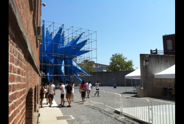 Outdoor installation Wendy at PS1; the interactive exhibits change frequently