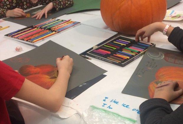 'Tis the season for pumpkin decor! Photo courtesy of Brookline Arts Center