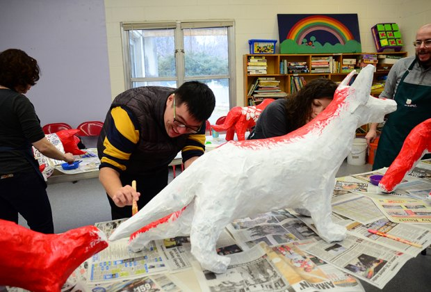 Drop in to work on collaborative sculptures to celebrate the Year of the Pig at the Queens Botanical Garden. Photo courtesy of QBG