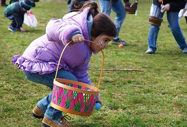 Catch all the eggs (and the fun) at the Queens County Farm Museum's egg hunt. Photo courtesy the farm