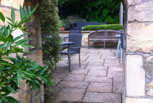Relax in the gardens at the Queensberry Hotel