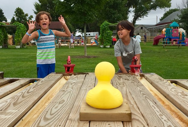 Rubber duck races are just part of the Mother's Day fun at Harbes Family Farm this weekend. Moms enjoy FREE admission. Photo by the author