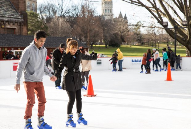 Skate for free at Bushnell Park. Photo courtesy of Winterfest Hartford