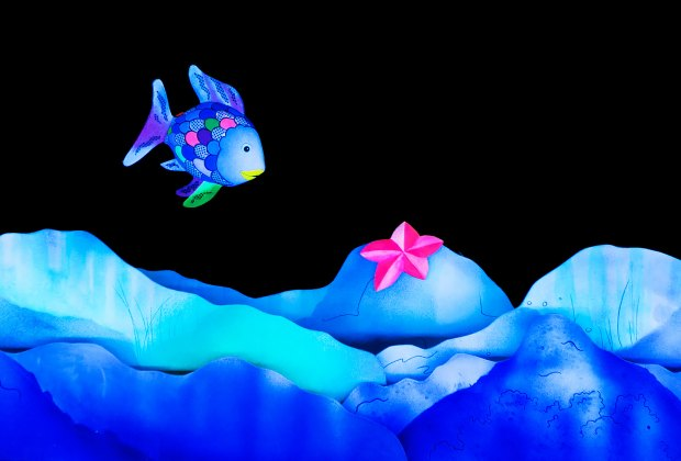The Rainbow Fish is a perfect introduction to theater for the youngest audience members. Photo courtesy of Mermaid Theatre of Nova Scotia