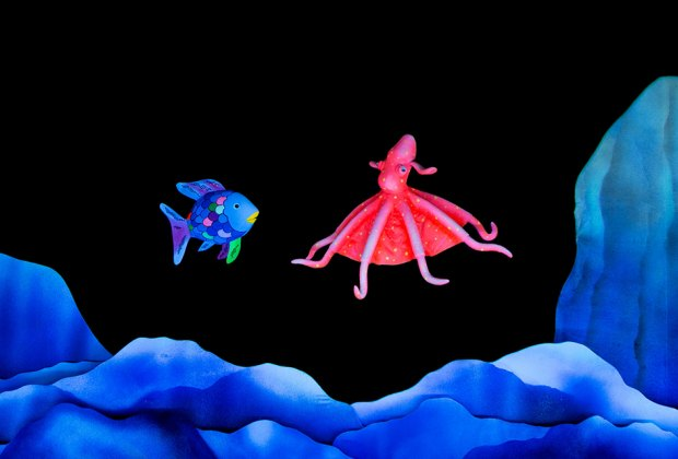 The Rainbow Fish swims into the Bardavon in April. Photo courtesy of the Mermaid Theater of Nova Scotia