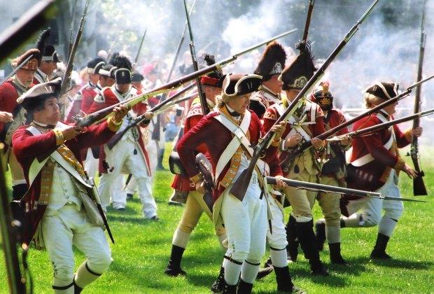 Lexington Battle Reenactment. Photo courtesy of Lexington Historical Society