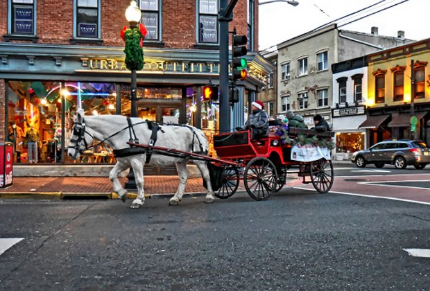 Take a free horse and wagon ride through Red Bank. Photo courtesy of  Red Bank