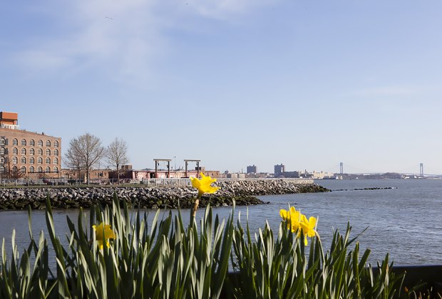 The historic Red Hook area combines pretty views with industrial flair. Photo by Marley White for NYCgo