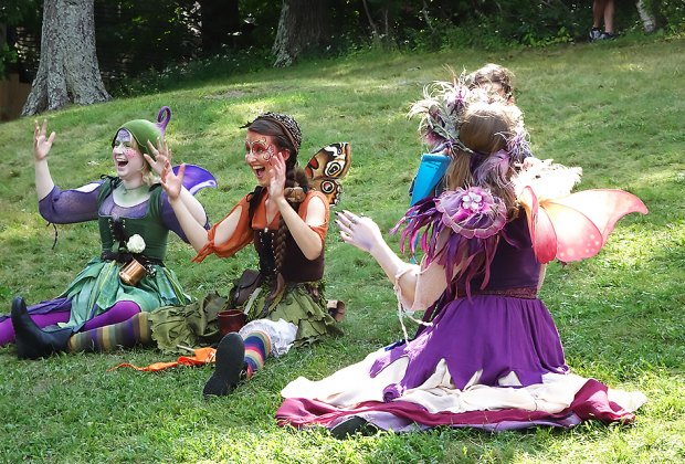 Meet the fairies at the Renaissance Faire in Tuxedo Park. Photo by the author