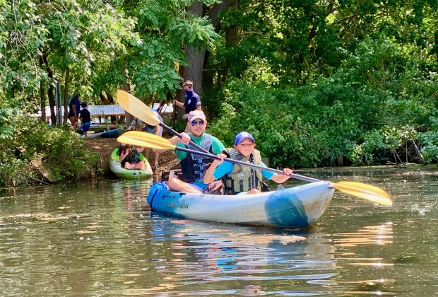 Go kayaking in the Peconic River this summer