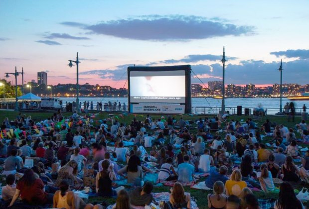 RiverFlicks for Kids in Hudson River Park is the perfect setting for a picnic and a movie. Photo courtesy of NYC Parks