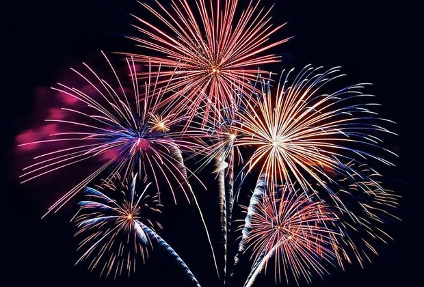 July 4 fireworks will burst and boom over Montauk.  Photo courtesy of Fireworks by Grucci