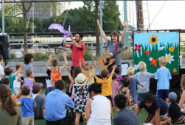 Hudson River Park will keep little New Yorkers entertained all summer long with a series of free performances and interactive activities. Photo courtesy of Hudson River Park
