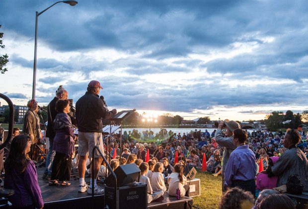 RiverSing brings the community together with inspiring music. Photo courtesy of The Revels