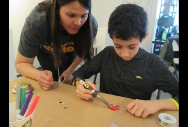 Kids can get their wires crossed... and then solder them into place