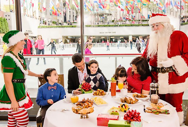 Splurge on a meal at the Rock Center Cafe for a memorable family treat. Photo courtesy the Rink at Rockefeller Center