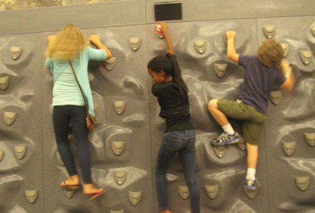 Even the rock climbing was educational.