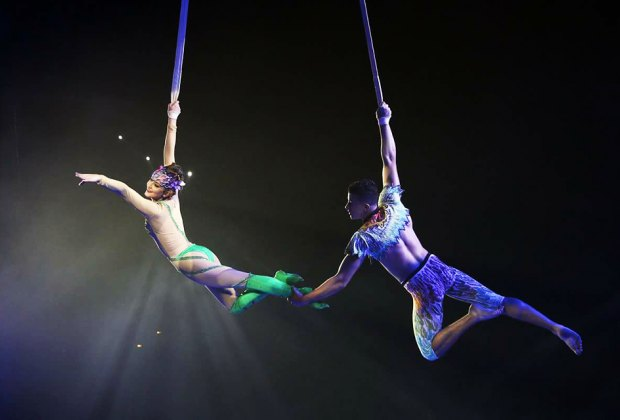 The Royal Hanneford Circus will perform high-flying feats at the Westchester County Center. Photo courtesy of the circus