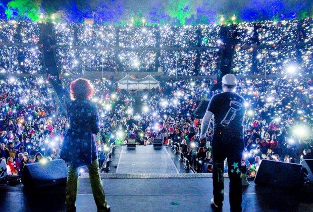 RUMPELSTIL Flashlight Concert. Photo courtesy of the Greek Theatre
