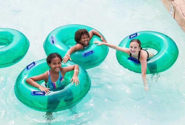 Rides the waves at Runaway Rapids on a NJ summer day trip