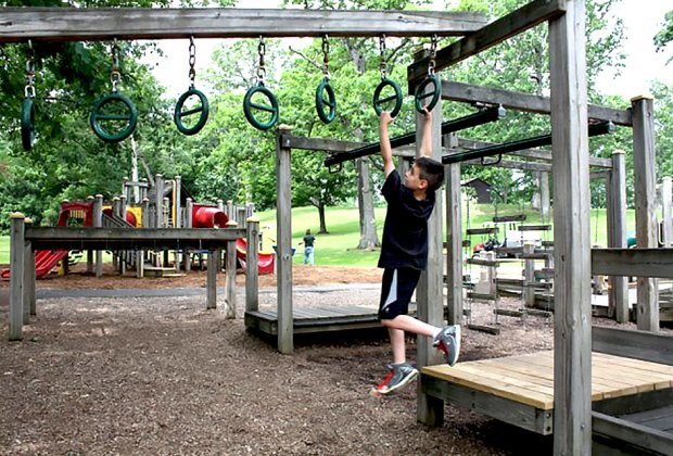 Kids can run, swing, slide, and even make music at Sally's Dream Playground. Photo by the author