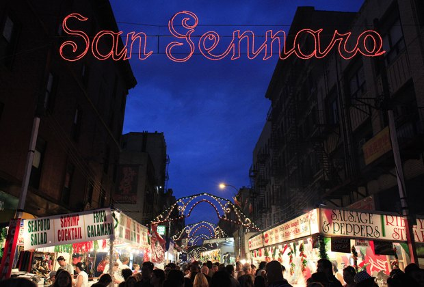 Get your cannoli and calamari fix at the Feast of  San Gennaro. Photo by Joe Buglewicz for NYCGo
