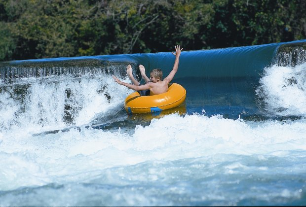 Floating down the San Marcos River.