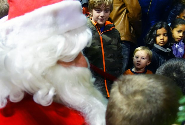 Santa flies into the Princeton Airport to give gifts and collect toy donations. Photo courtesy of the Princeton Airport