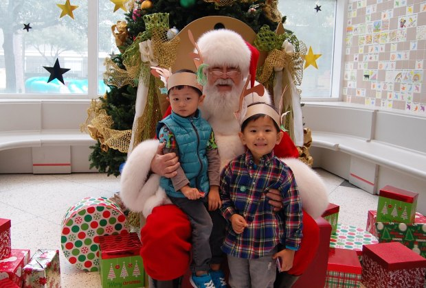Come see Santa at the Children's Museum of Houston, then stick around for all sorts of Winter Wonderland activities./Photo courtesy of the Children's Museum of Houston.