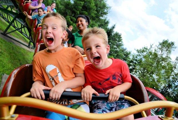 Rudy's Rapid Transit Roller Coaster delivers crazy fun. Photo courtesy of Santa's Village