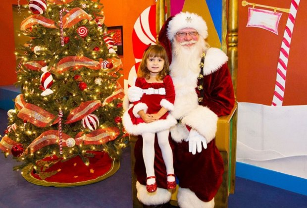 Enjoy a social with Santa that has a peppermint twist./Photo courtesy of The Woodlands Children's Museum.