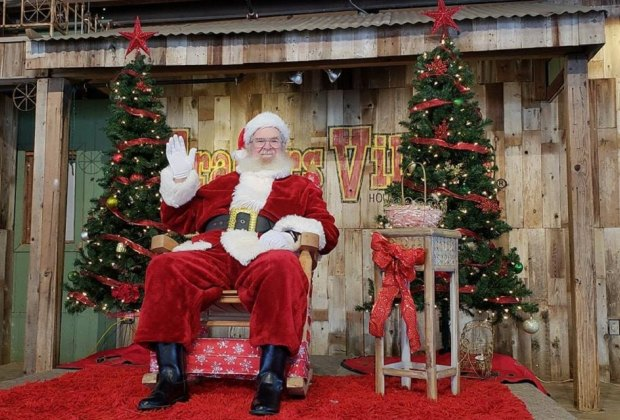 Snap pictures with the man in red and get some  holiday shopping done./Photo courtesy of Trader's Village.
