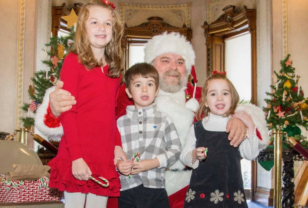 Enjoy Santa at the Lockwood - Mathews Mansion. Image courtesy of Sarah Grote Photography