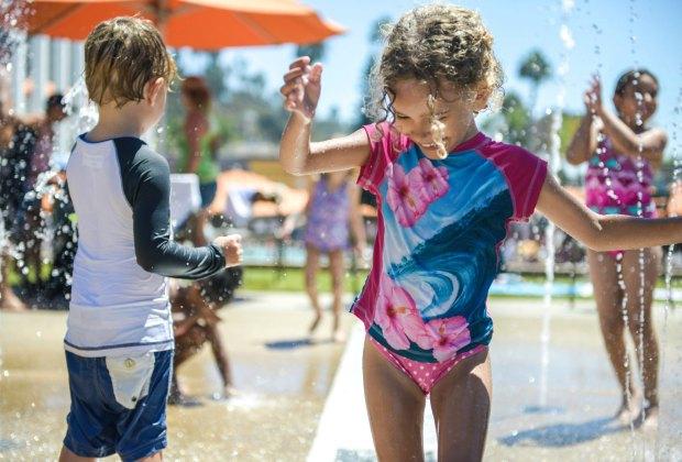 The Splash Pad at Santa Monica's Annenberg Beach House. Photo by Sarah Prikryl