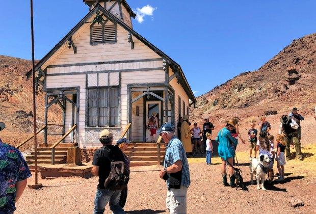 Replica of the original Calico 1880s schoolhouse. Photo by Brian Johnson