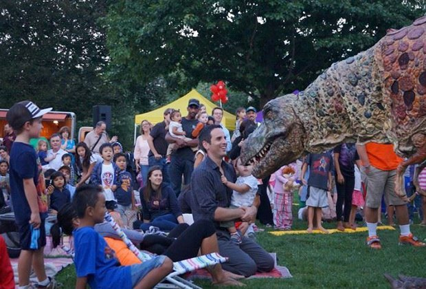 Meet some of your favorite movie characters before the show at Screen on the Green in Summit. Photo courtesy of the venue