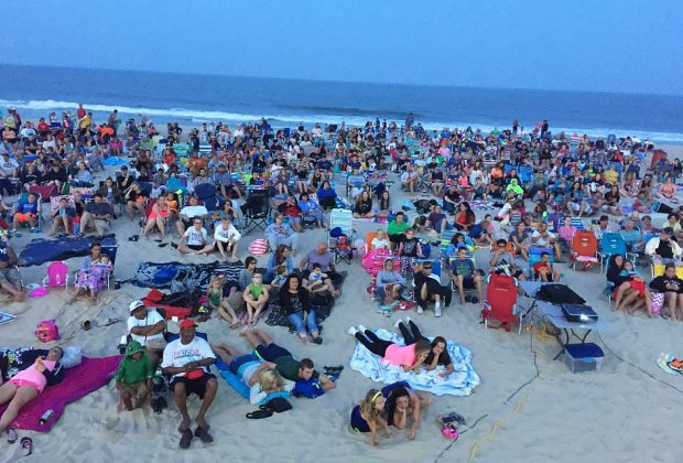 Catch free flicks on the beach at Seaside Heights every Sunday and Tuesday at dusk. Photo courtesy of the event