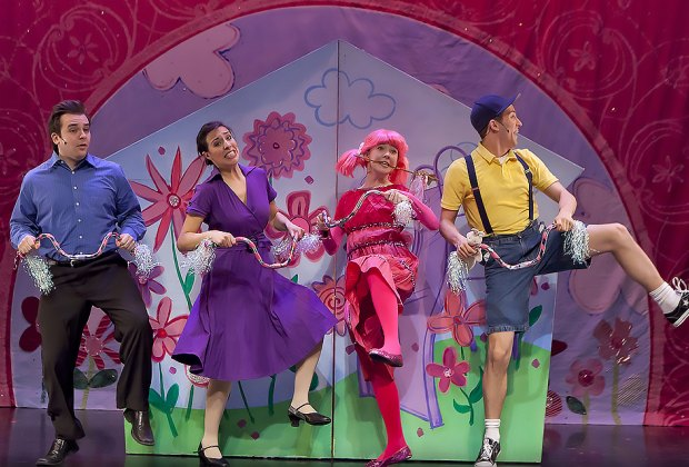 See what happens when Pinkalicious can't stop eating pink cupcakes. Photo courtesy of the Westhampton Beach Performing Arts Center
