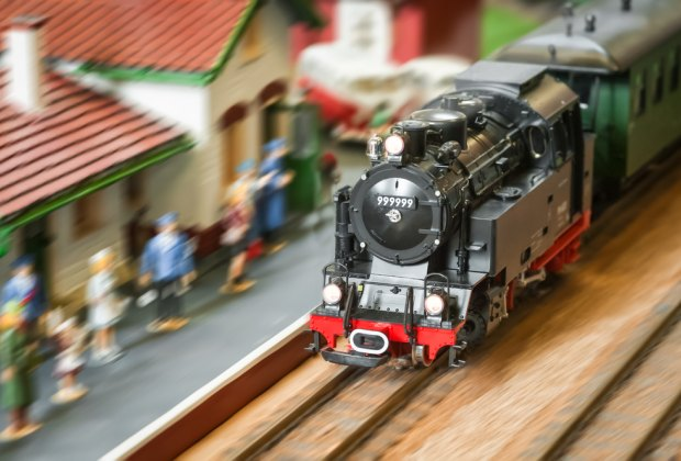 Model trains always delight during the holiday season. Photo via Shutterstock.
