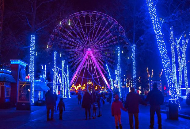 Six Flags Holiday in the Park runs through January 1. Photo courtesy of Six Flags