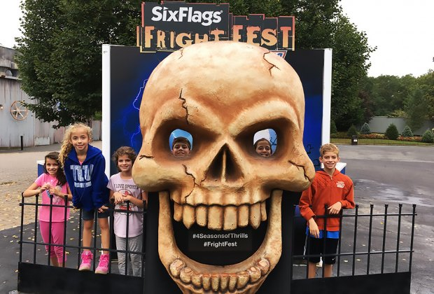 Enjoy scare-free thrills during the day at Six Flags' Fright Fest. Photo by Laurie Rein