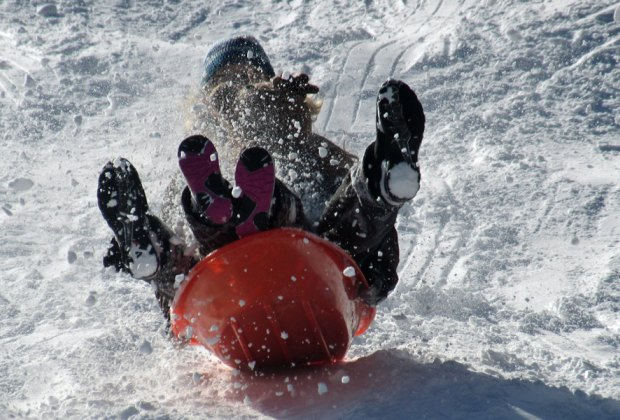Sledding is a perfect winter fun activity